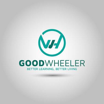Letter WH logo design template