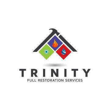 Building Restoration Vectors logo design template.