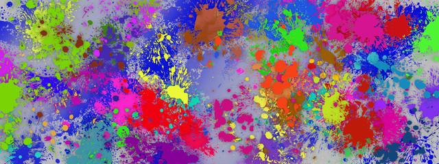 abstract farb splash