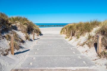 Fototapete - Strandzugang an der Ostseeküste in Wustrow auf dem Fischland-Darß
