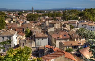 Cityscape of Avignon, France