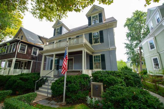 John Fitzgerald Kennedy National Historic Site NHS at 83 Beals Street in the Coolidge Corner of Brookline near Boston, Massachusetts, MA, USA.