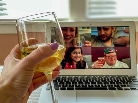Virtual happy hour in a time of quarantine