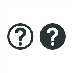 Question mark icon isolated on white background. Question mark icon in trendy design style. Question mark vector icon modern and simple flat symbol for web site, mobile, logo, app, UI.