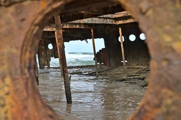 Acrylic Prints Shipwreck S.S. Maheno ship wreck on Frazer Island