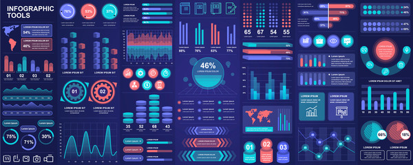 Bundle infographic UI, UX, KIT elements with charts, diagrams, workflow, flowchart, timeline, online statistics, marketing icons elements design template. Vector info graphics and infographics set.