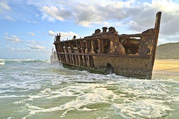 Garden Poster Shipwreck S.S. Maheno ship wreck on Frazer Island
