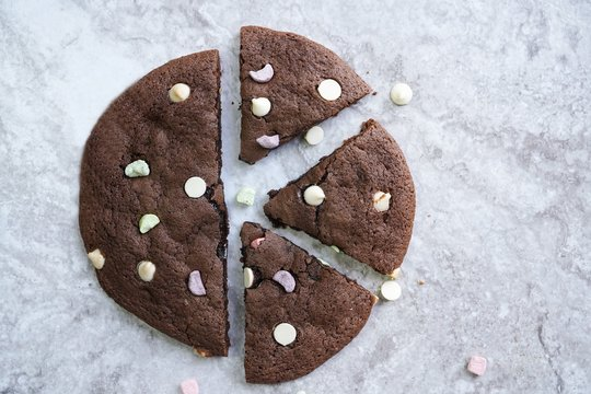 Homemade Giant Double chocolate chip marshmallow cookie