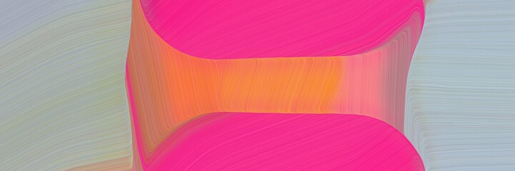 Poster Rose abstract colorful header with dark gray, deep pink and ash gray colors. fluid curved flowing waves and curves