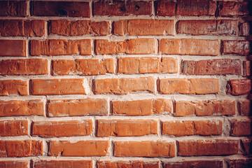 Brick wall texture background in loft interior