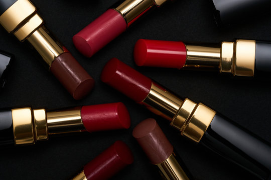 Lipstick in various fashionable shades.