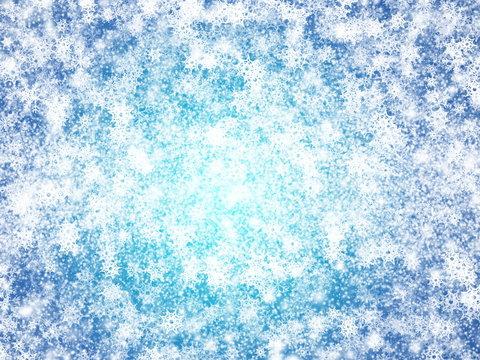 Full Frame Shot Of Snow Flakes