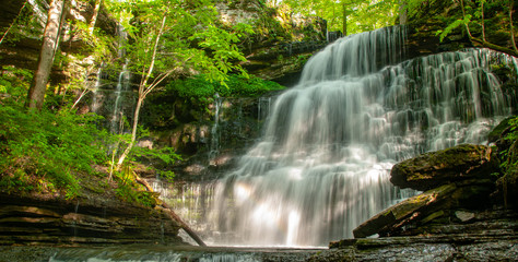 Machine Falls Near Tullahoma, Tennessee in Early Spring - Beautiful Waterfall