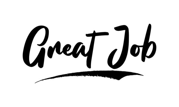 Great Job Calligraphy Handwritten Lettering for Sale Banners, Flyers, Brochures and  Graphic Design Templates