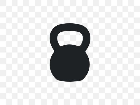 Kettlebell, sports, weight icon. Vector illustration, flat design.