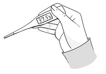 モノクロの体温計1