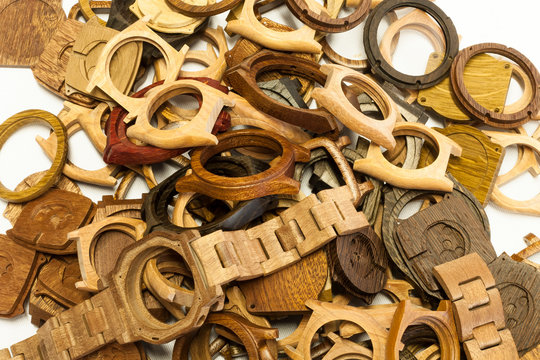 Wooden watches components