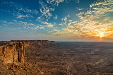 Edge of the World, a natural landmark and popular tourist destination near Riyadh -Saudi Arabia. Fototapete