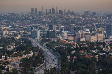 Wall Mural - Los Angeles Cityscape Sunset