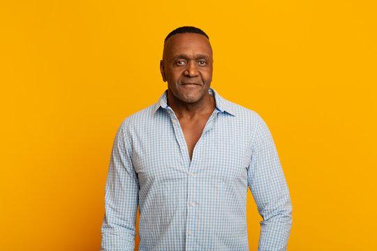 Portrait of confident mature african american man