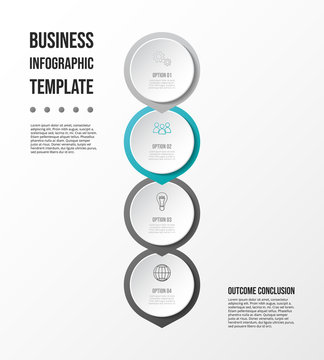 Gray infographic with business icons. Diagram. Vector