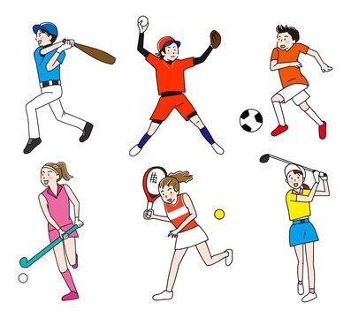 野球・サッカー・ソフトボール・ホッケー・テニス・ゴルフオリンピック野外球技
