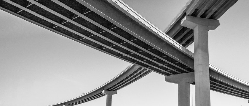 Low Angle View Of Bridges Against Sky