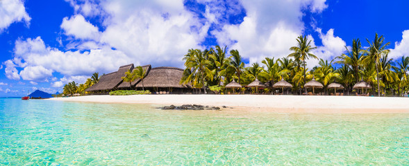 Best beaches of Mauritius island, tropical paradise destination