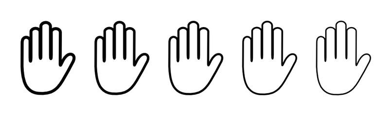 dłonie ikona