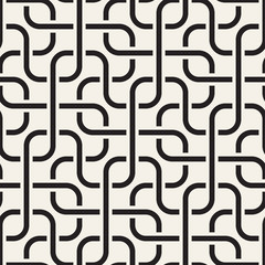 Vector seamless geometric pattern. Stylish abstract decorative background. Repeating interweaving maze lines design.