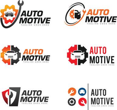 Car Service Logo Design Vector
