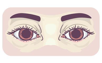 Symptom Dilated Pupils Illustration