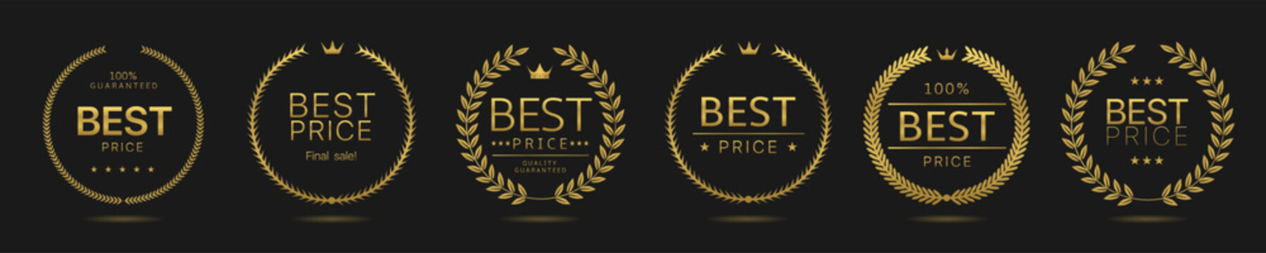 Best price Golden wreath icons