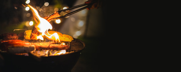 Photo sur Toile Camping barbecue camping