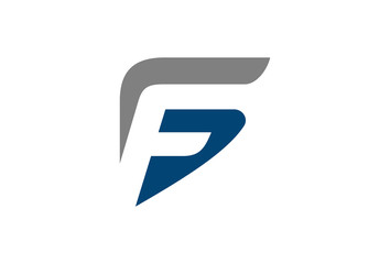 letter f and g logo template
