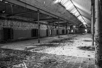 Photo sur cadre textile Les vieux bâtiments abandonnés Interior Of Abandoned Factory