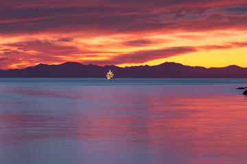 Sunrise at Abel Tasman National Park, South Island of New Zealand