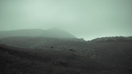 Fototapeten Khaki Scenic View Of Landscape Against Cloudy Sky