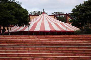 circus tent in the garden