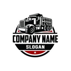 Dump truck logo template side view