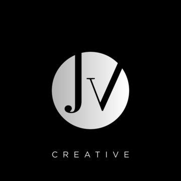 jv logo design vector icon