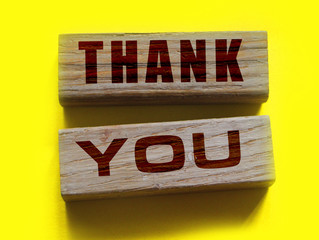 THANK YOU words on the wooden blocks. Feedback for good and services business loyality programm for longterm clients concept