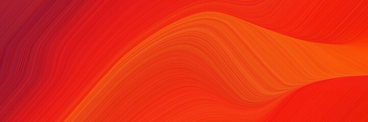 Keuken foto achterwand Rood elegant flowing poster with orange red, firebrick and strong red colors. fluid curved lines with dynamic flowing waves and curves