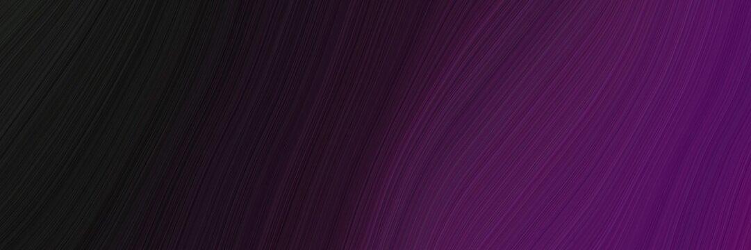 elegant dynamic header design with very dark pink, very dark magenta and very dark violet colors. fluid curved flowing waves and curves