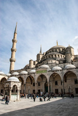 Exterior of Blue Mosque, Istanbul, Turkey