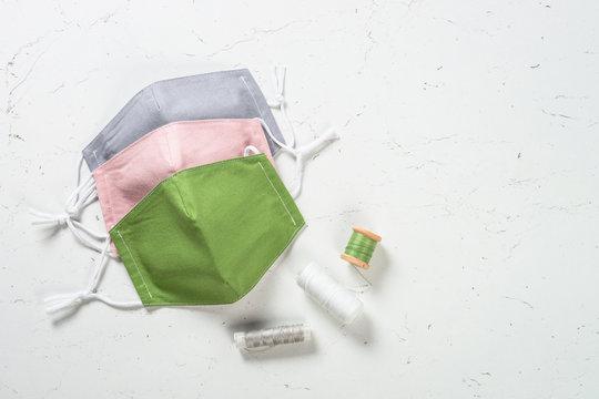 Zero waste face mask, virus protection.