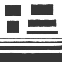 Obraz Rough Edge Text Box Shape Vector Flat Backgrounds Set - fototapety do salonu