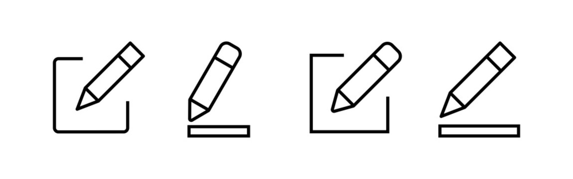 Edit icons set. Pencil icon. sign up Icon vector