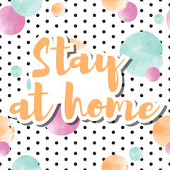 Autocollant pour porte Retro sign stay at home