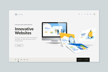 Wall Mural - Website template design. Modern vector illustration concept of web page design for website and mobile website development. Easy to edit and customize.